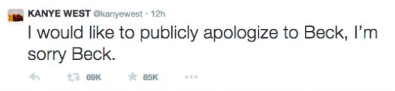 Kanye Apologises