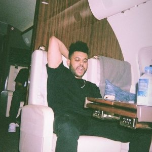 The Weeknd HOT ON A PLANE.JPG